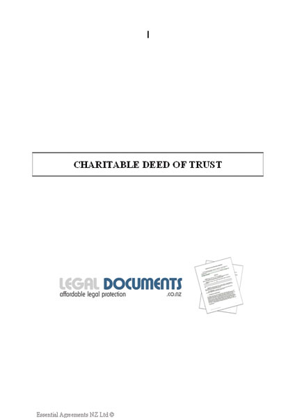 Charitable Trust Deed Document Cover